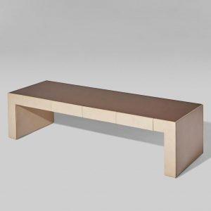 Osvaldo Borsani and Valeria Borsani Unique lounge table at Italian design and furniture gallery Casati Gallery