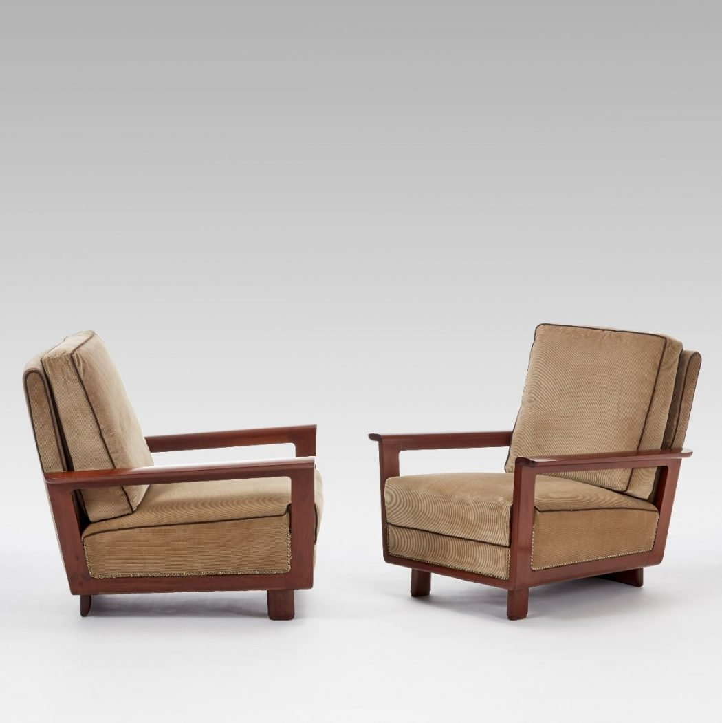 Paolo Buffa and Antonio Cassi Ramelli  |  Pair of armchairs