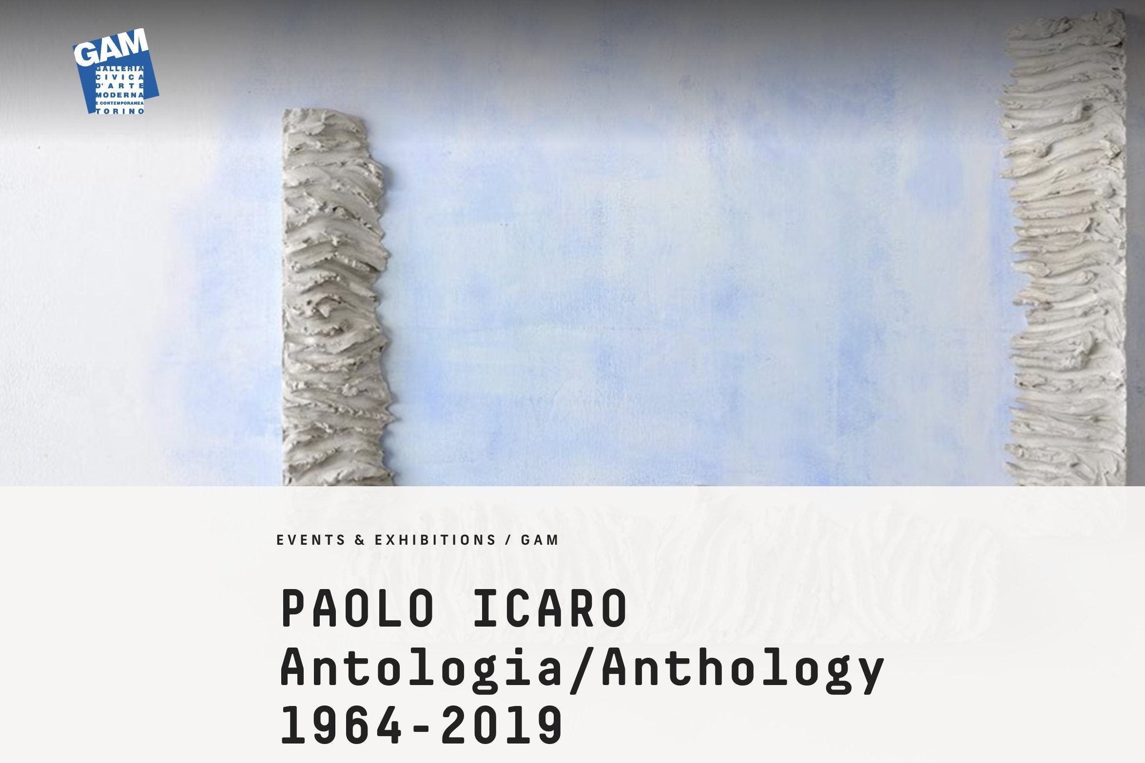 Exhibition of Paolo Icaro at the Galleria Civica dArte Moderna in Turin