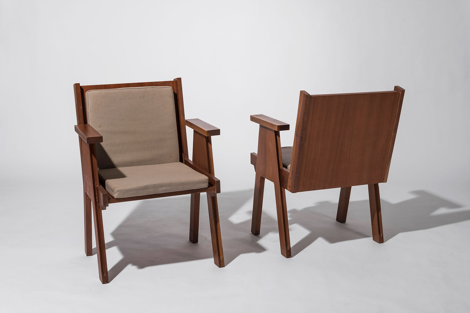 Angelo Mangiarotti |                              Pair of chairs from Club 44 at La Chaux-de-Fonds, Switzerland