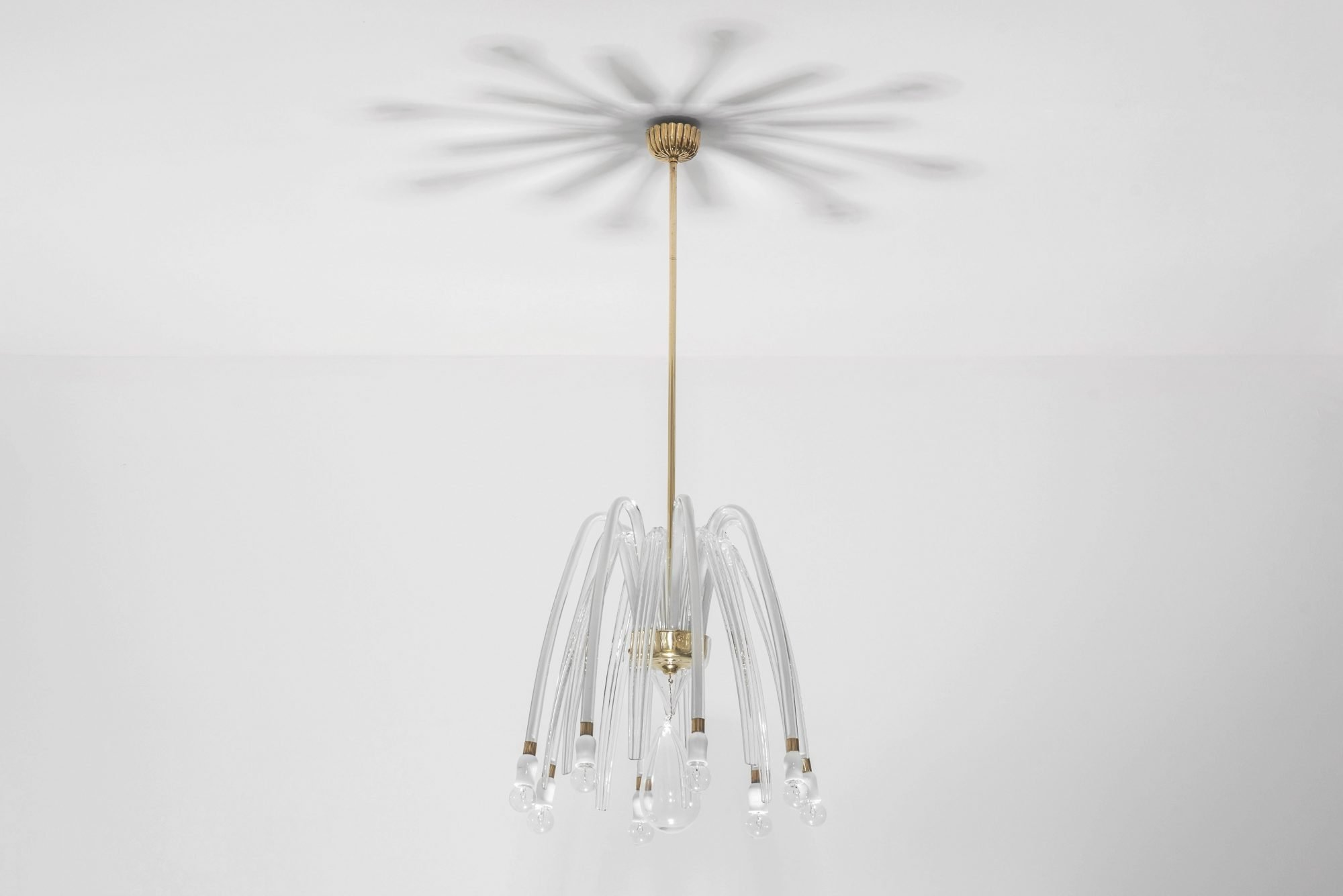 Carlo Scarpa |                              Rare eight-armed glass chandelier model 5334 A8