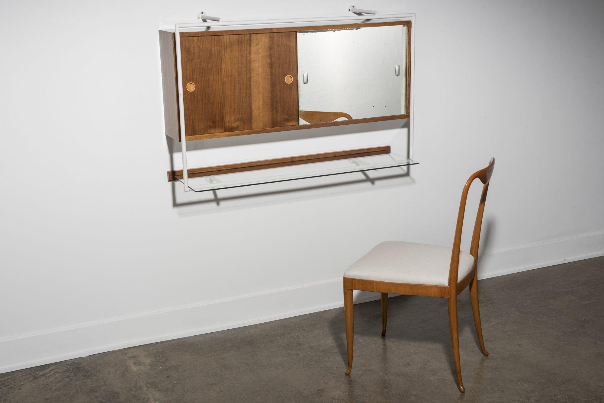 Franco Albini |  Vanity cabinet with mirror for Casa Carati - Milan