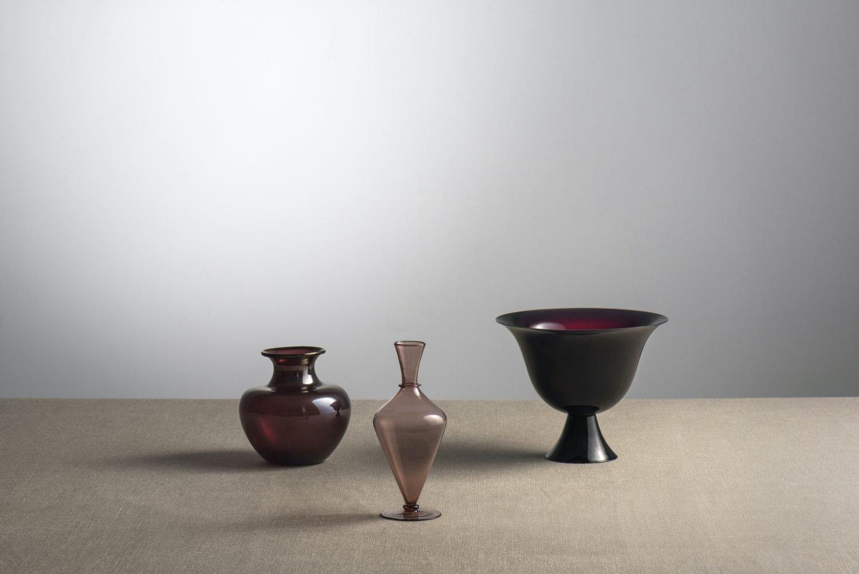 Vittorio Zecchin Murano glass vases at design and furniture gallery Casati Gallery
