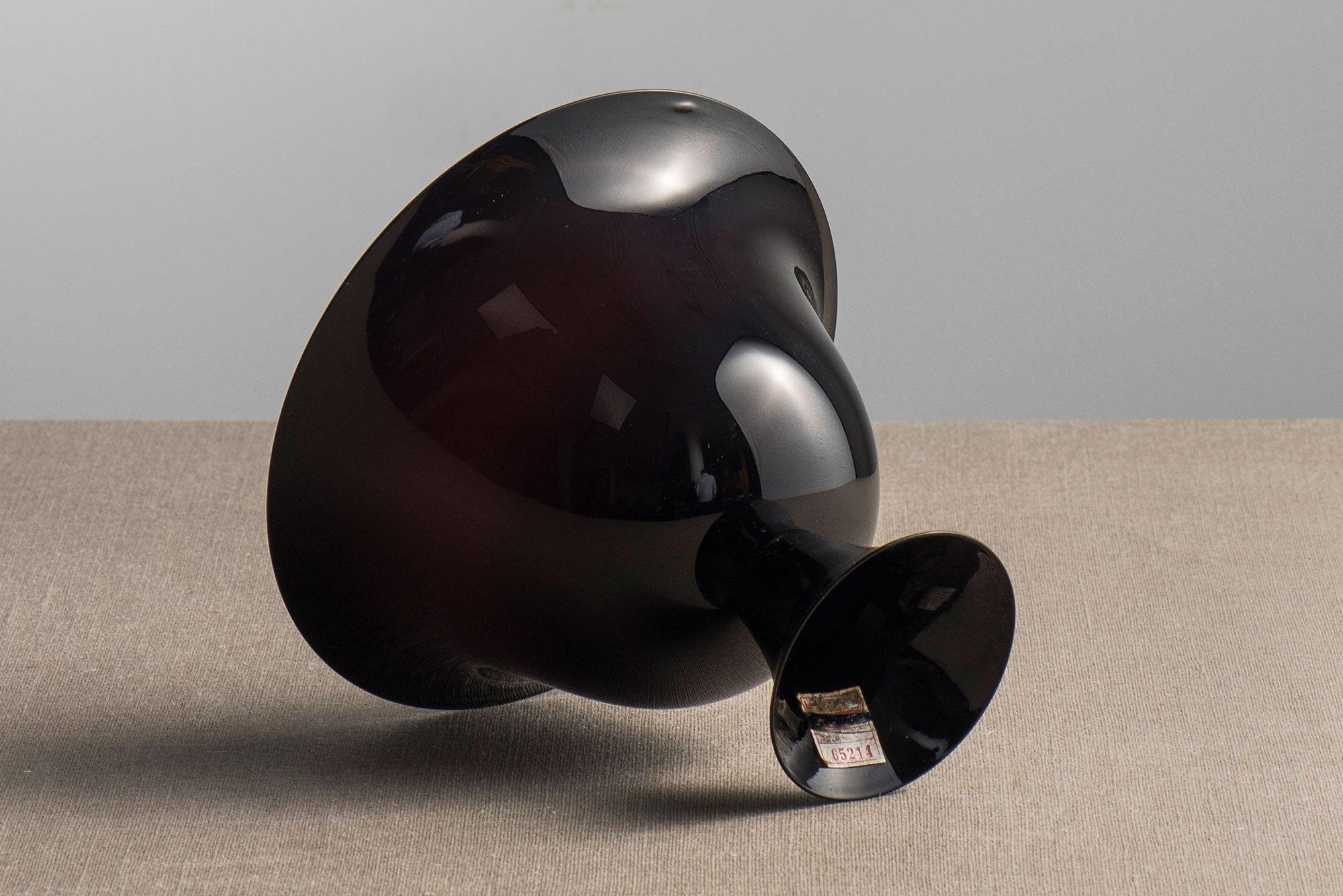 Vittorio Zecchin |                              Dark amethyst Murano glass bowl