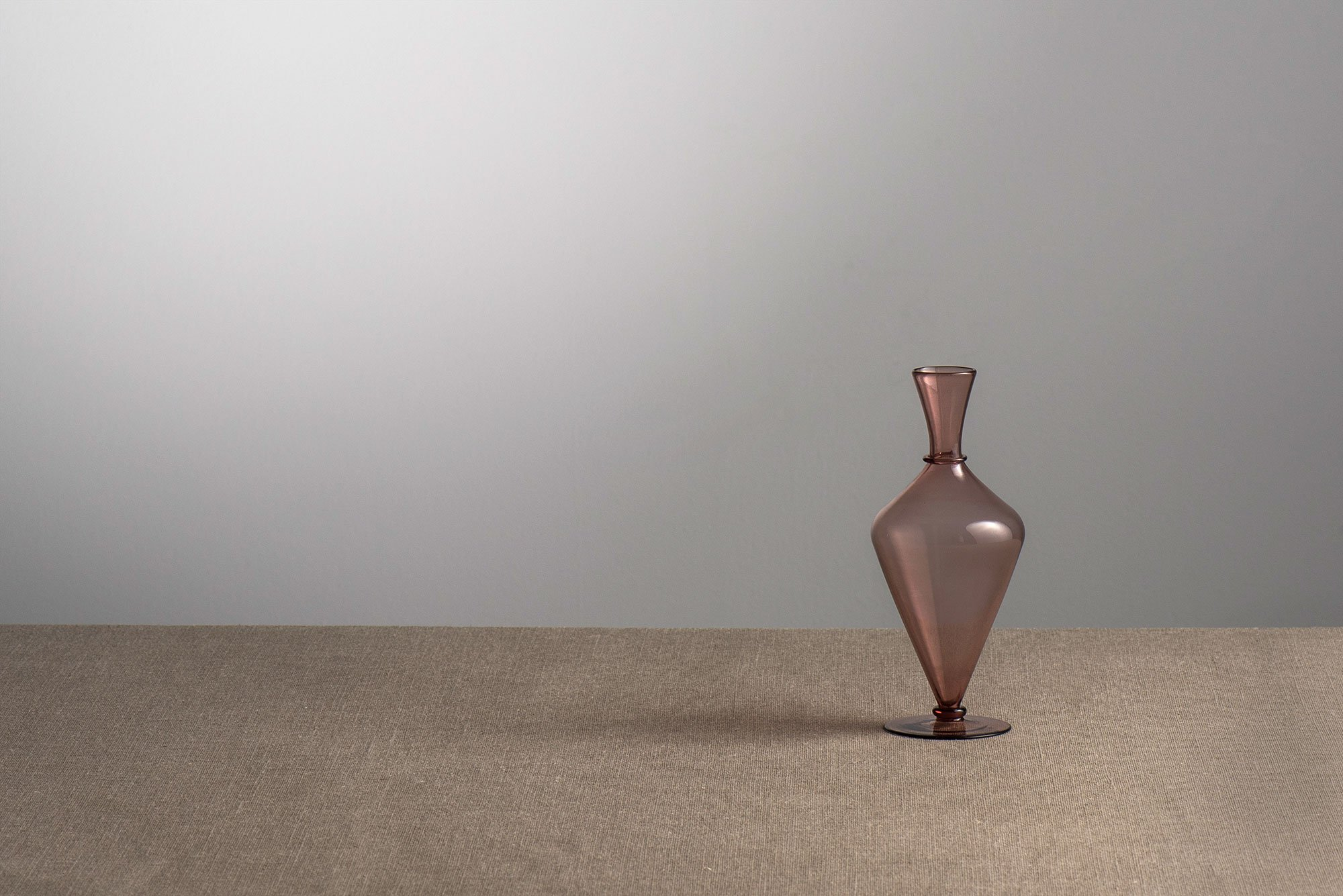 Vittorio Zecchin |                              Amethyst transparent Murano glass vase