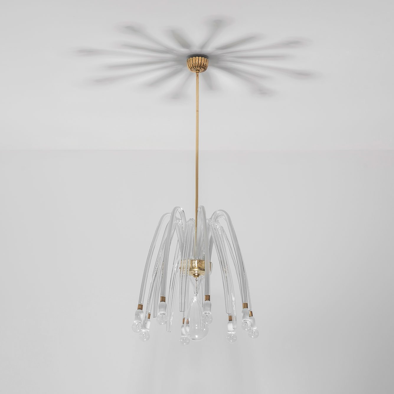 Carlo Scarpa |  Rare eight-armed glass chandelier model 5334 A8