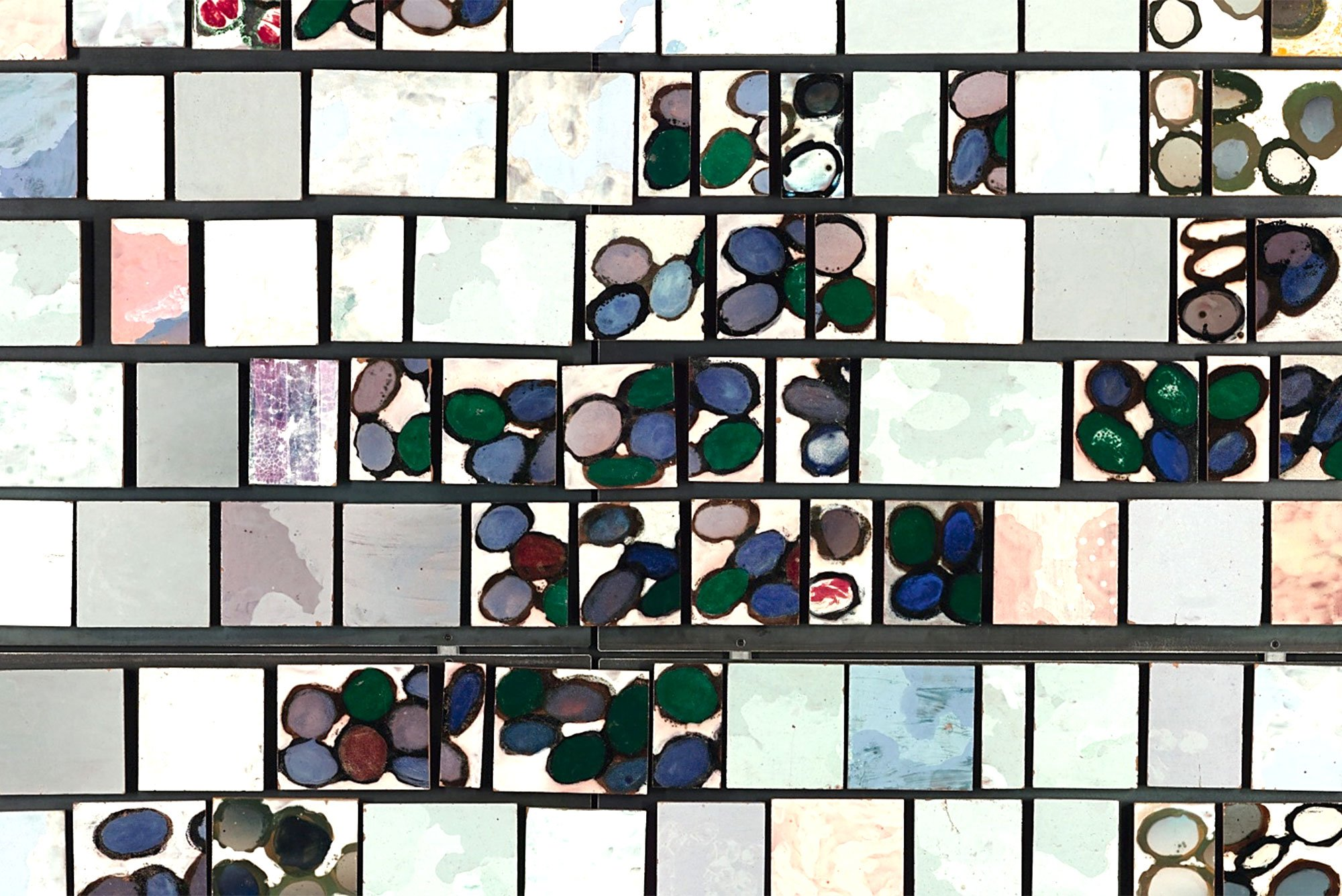 Fausto Melotti |  Enameled polychrome ceramic tiles