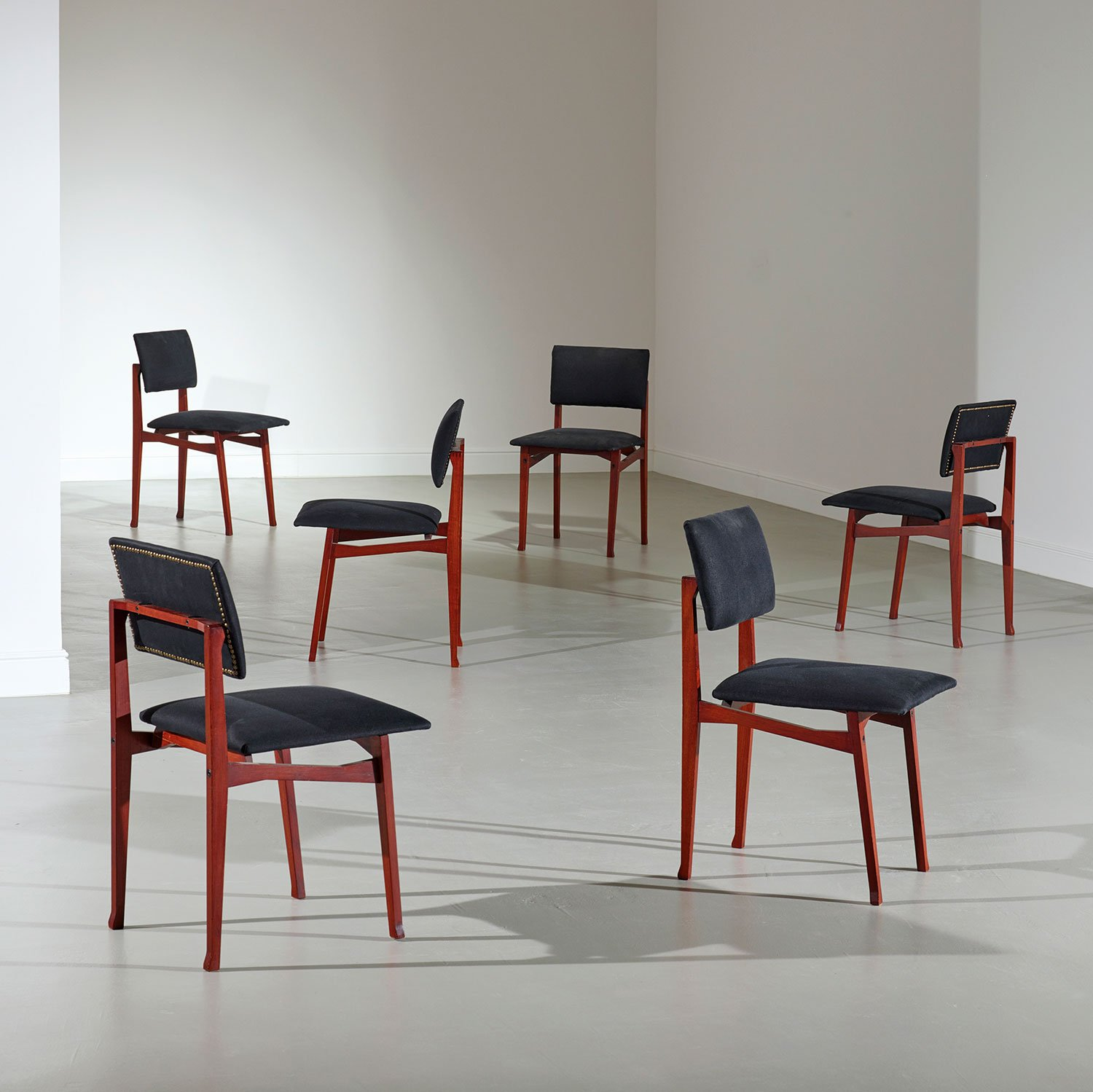 Franco Albini and Franca Helg |                                  Set of 6 chairs mod. SD9 Luisella