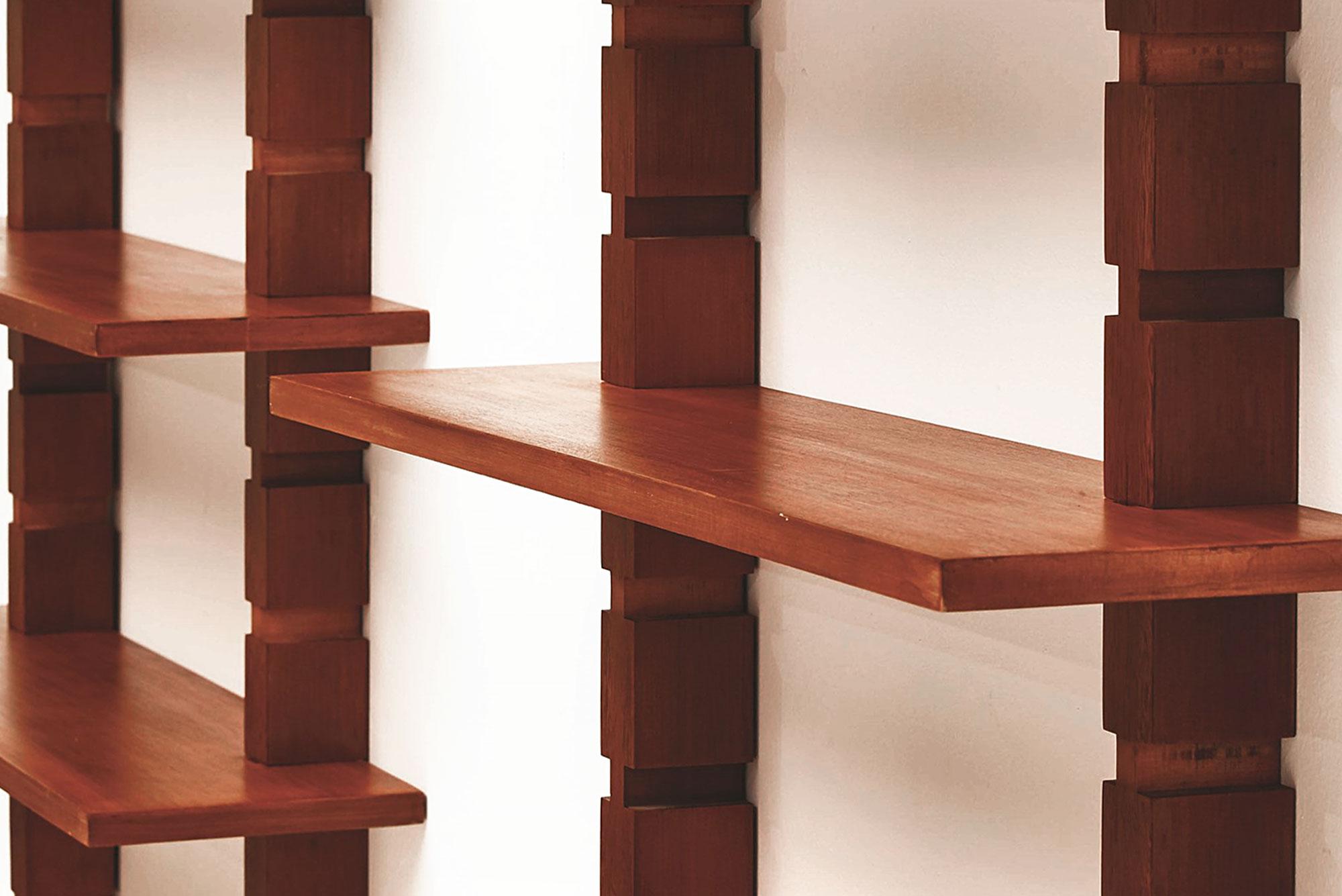 Ignazio Gardella |                              Three-module bookcase