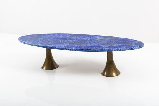 Angelo Mangiarotti |                              Table-bronze base & enameled copper top