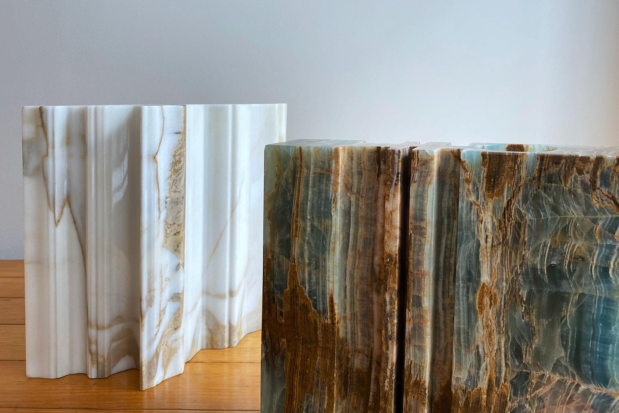 Angelo Mangiarotti  |                              Variazioni marble vase