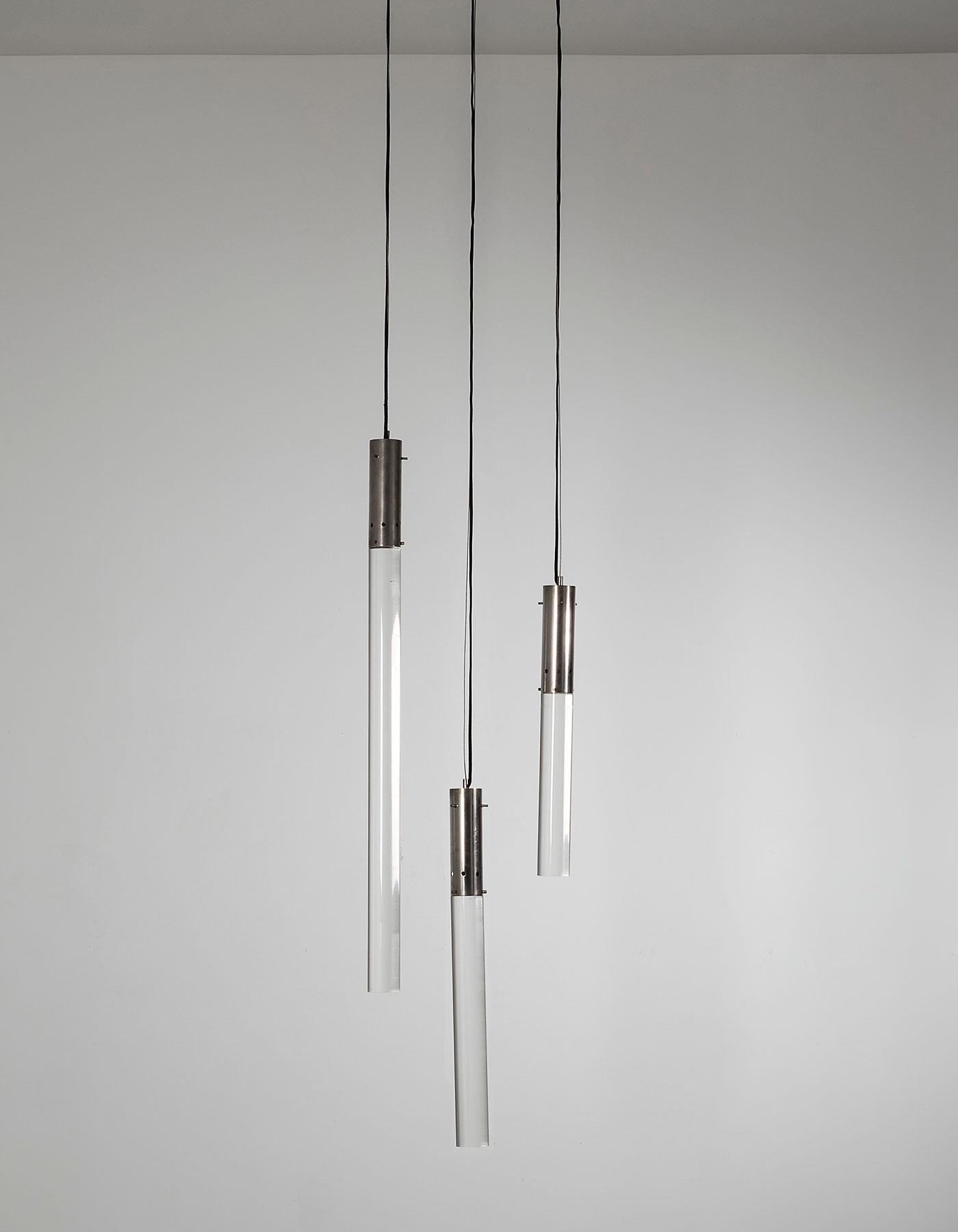 Angelo Mangiarotti |  Conduttore Di Luce - pendants