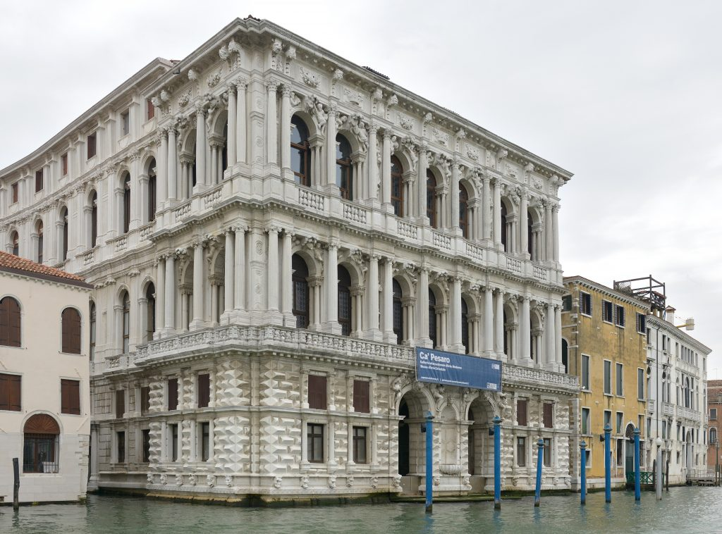 Ca'Pasaro Museum at the Canal Grande in Venice
