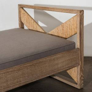 Franco Albini wood daybed commissioned for Villa Neuffer at Casati Gallery featured square image