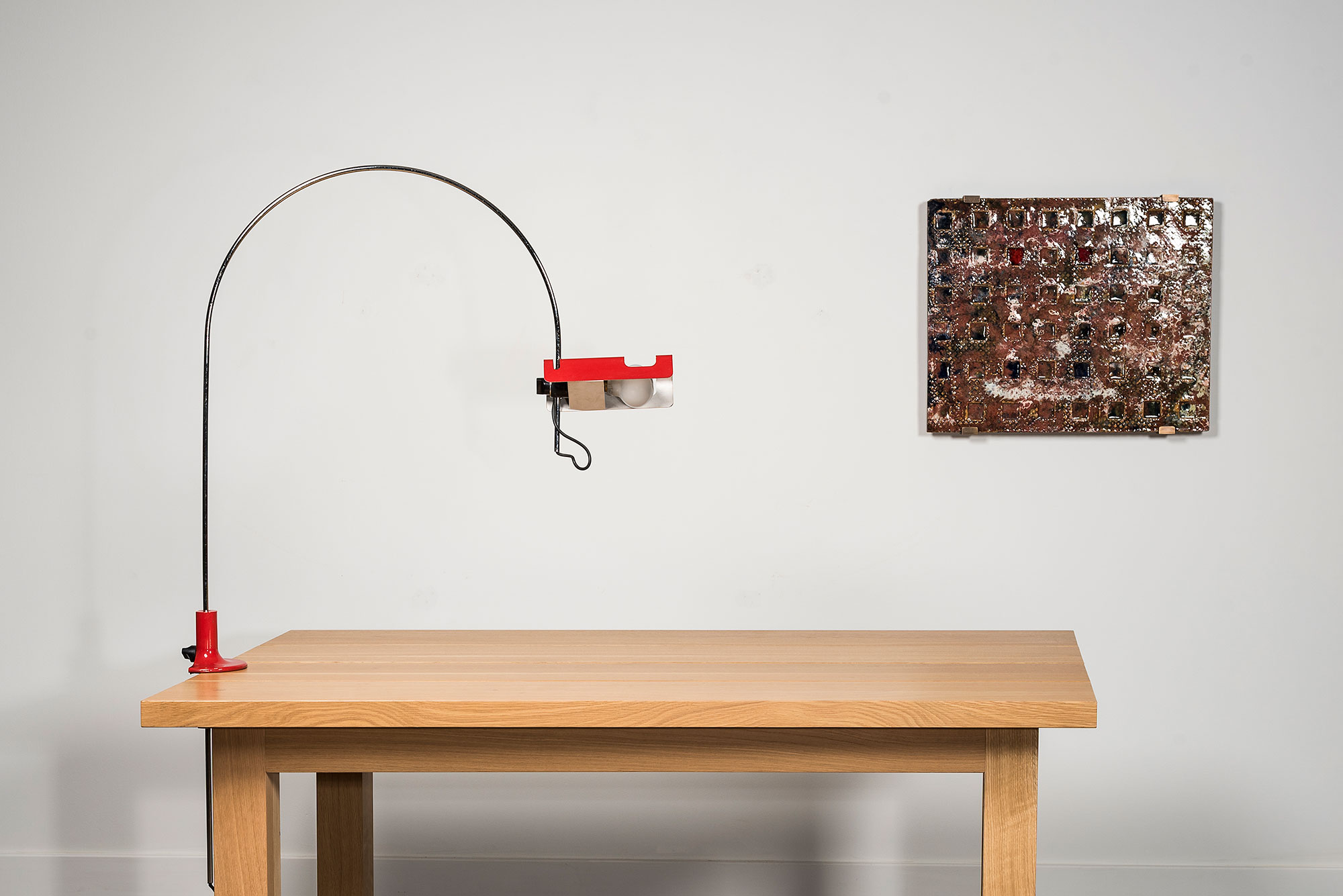 Joe Colombo |                              Table lamp from Spider series (red)