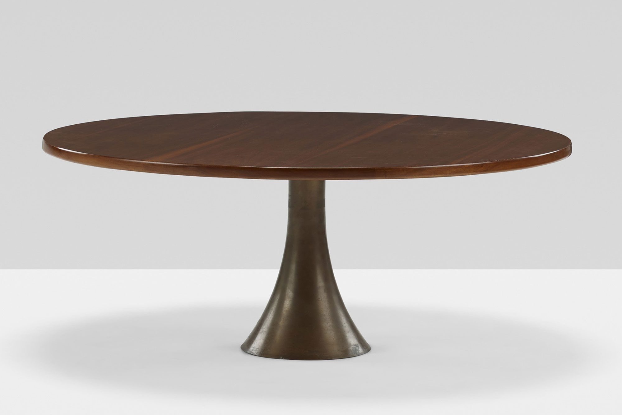 Angelo Mangiarotti  |                              Coffee table with wooden top