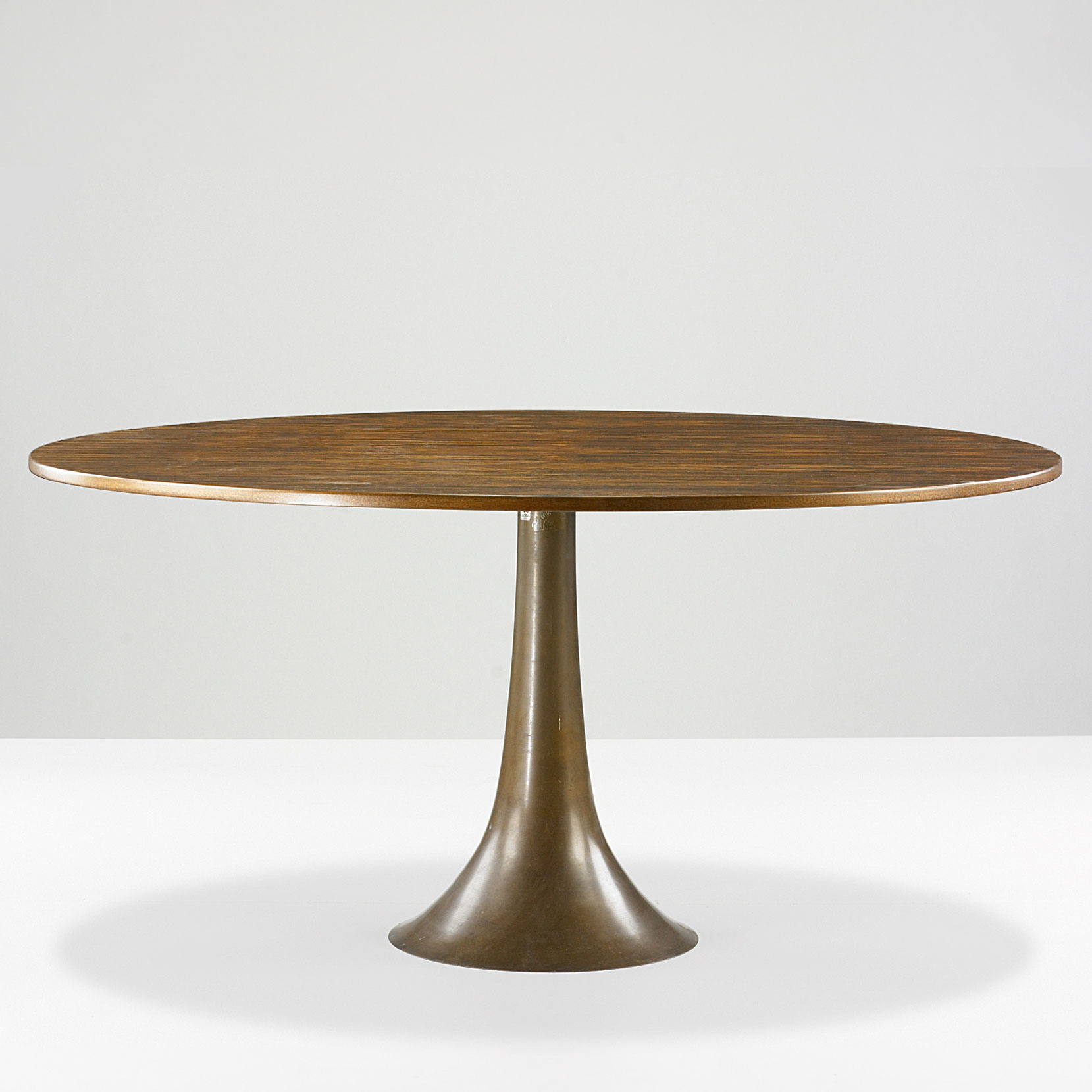 Angelo Mangiarotti  |                                  Dining table with wooden top