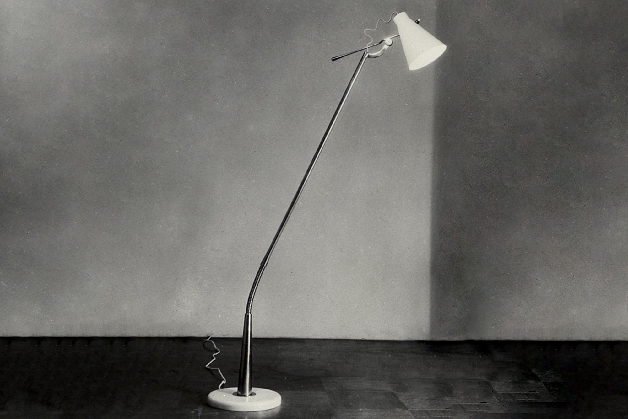Adjustable floor lamp mod. 1030