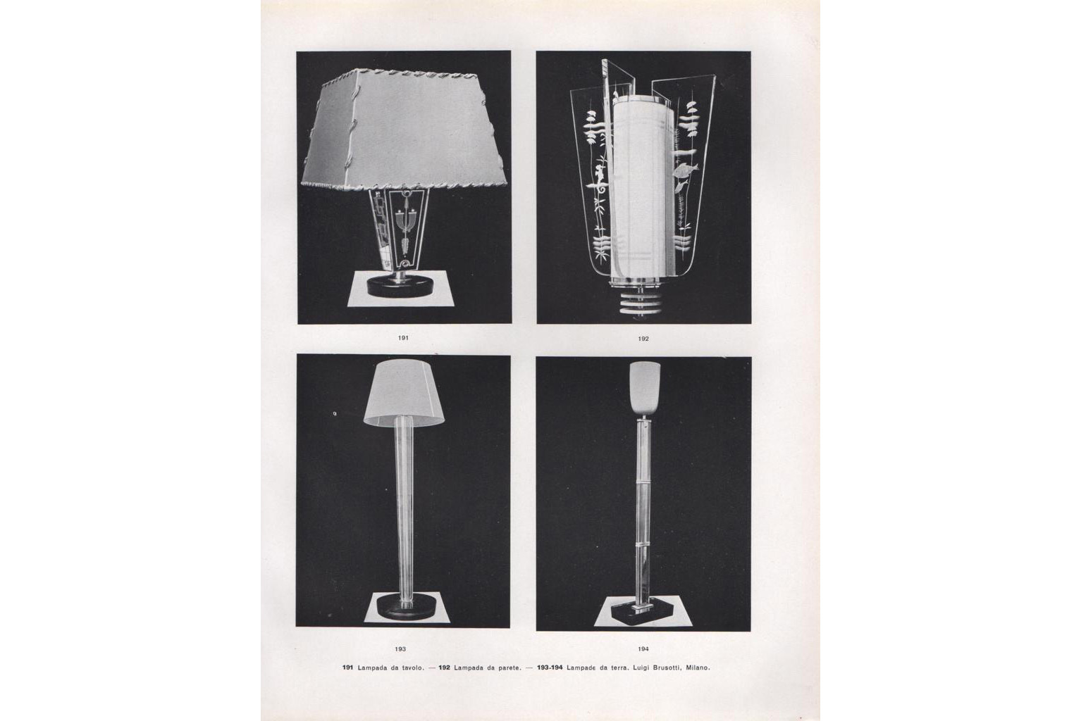 Luigi Brusotti  |                              Floor lamp
