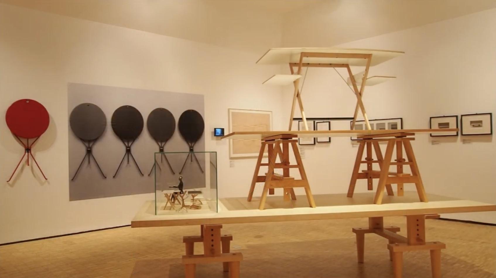 View of the Achille Castiglioni exhibition at the Triennale di Milano