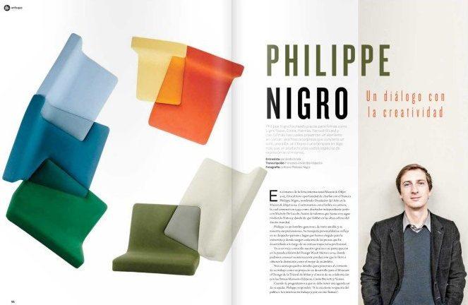 Glocal Magazine features Casti Gallerys designer Philippe Nigro