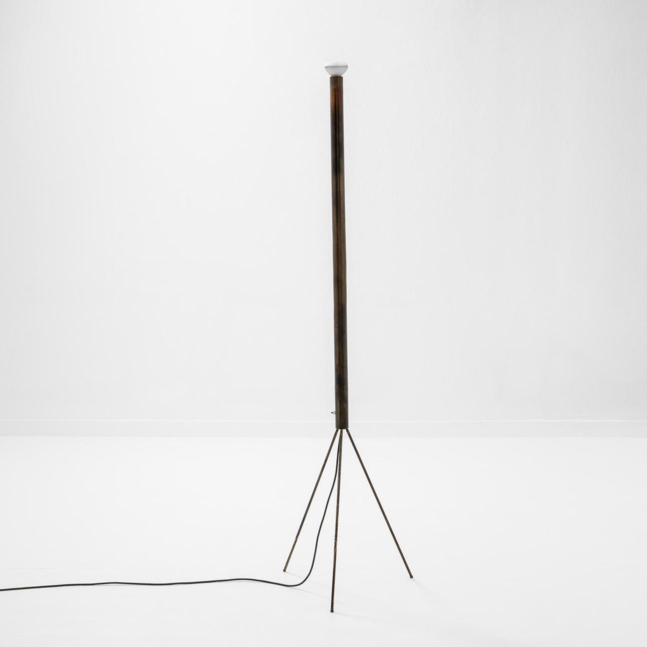 Achille Castiglioni & Pier Giacomo Castiglioni |                                  Luminator copper floor lamp