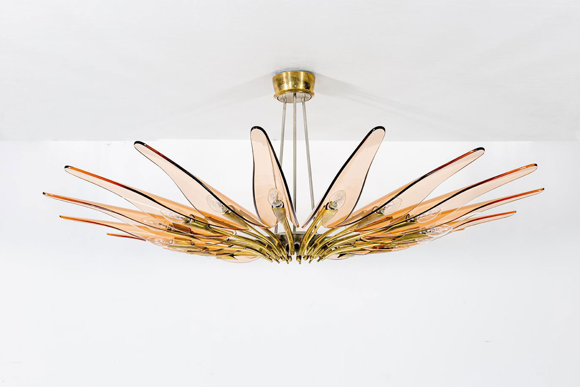 Max Ingrand  |                              Dalia chandelier, model 1563