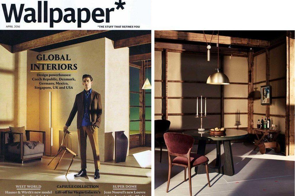 Wallpaper magazine cover of April 16 Casati Gallery