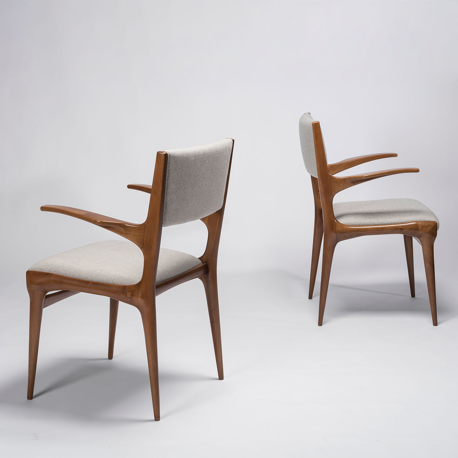 Carlo De Carli |                                  Set of 8 chairs, model 1585 and model 162