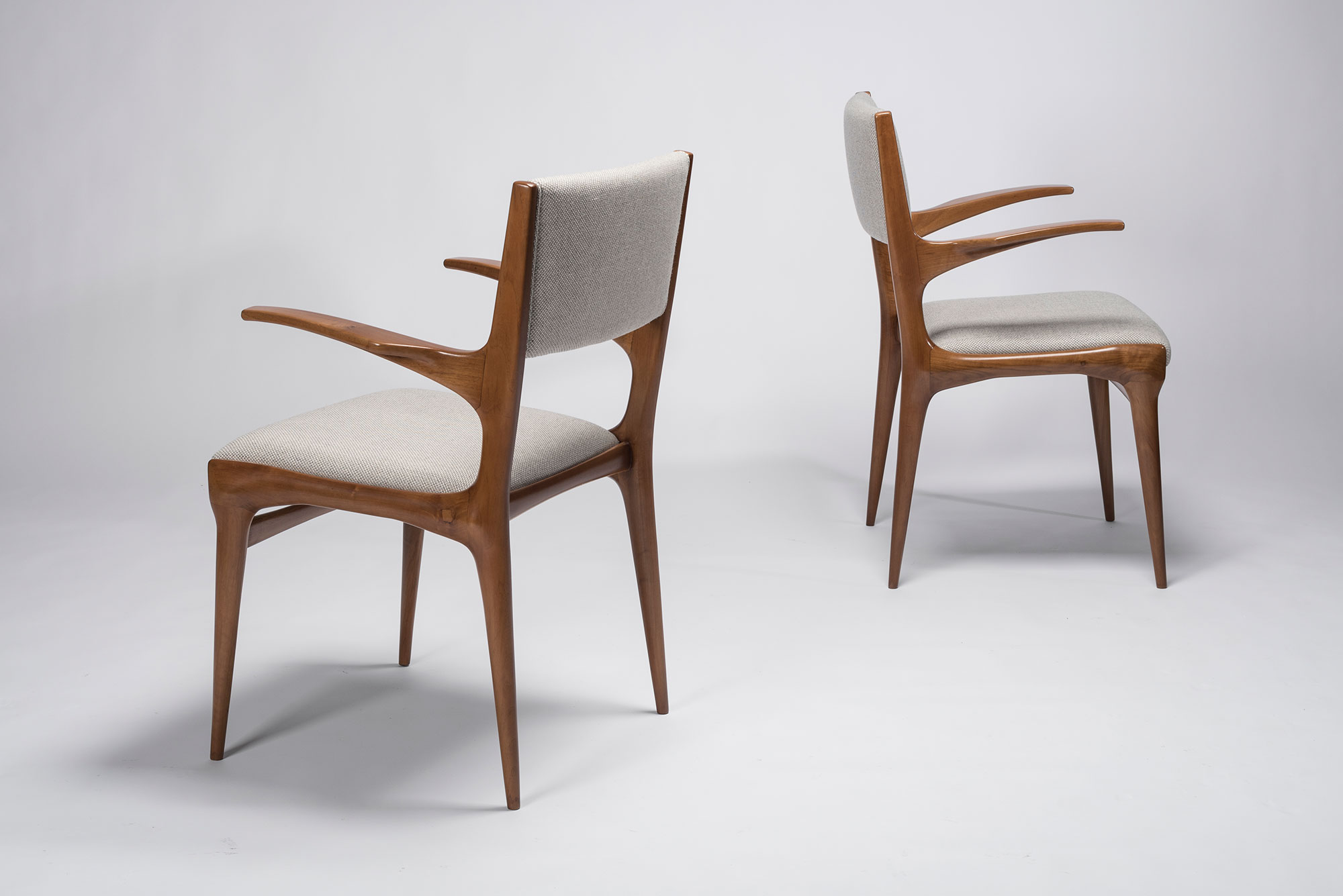 Carlo De Carli |                              Set of 8 chairs, model 1585 and model 162