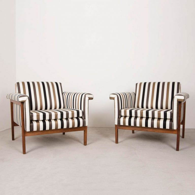 Pair of Canada chairs by Ettore Sottsass made for Poltronova
