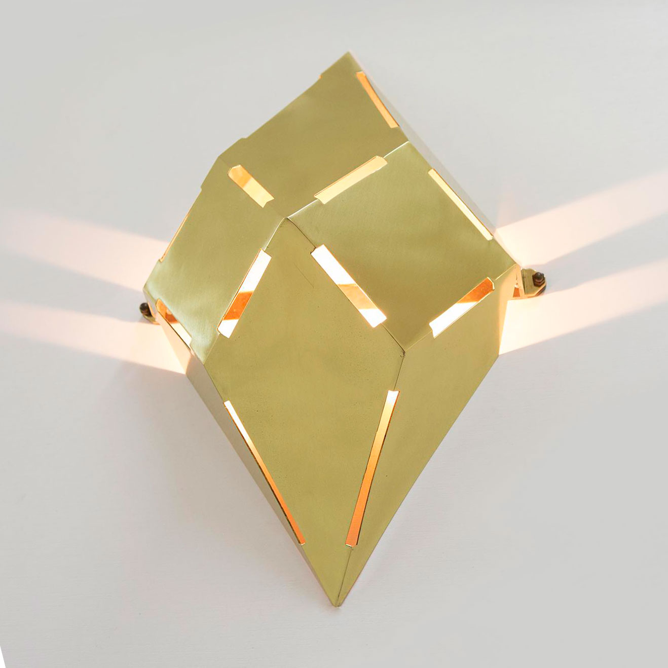 Gabriella Crespi  |                                  Pyramid wall lamps - pair