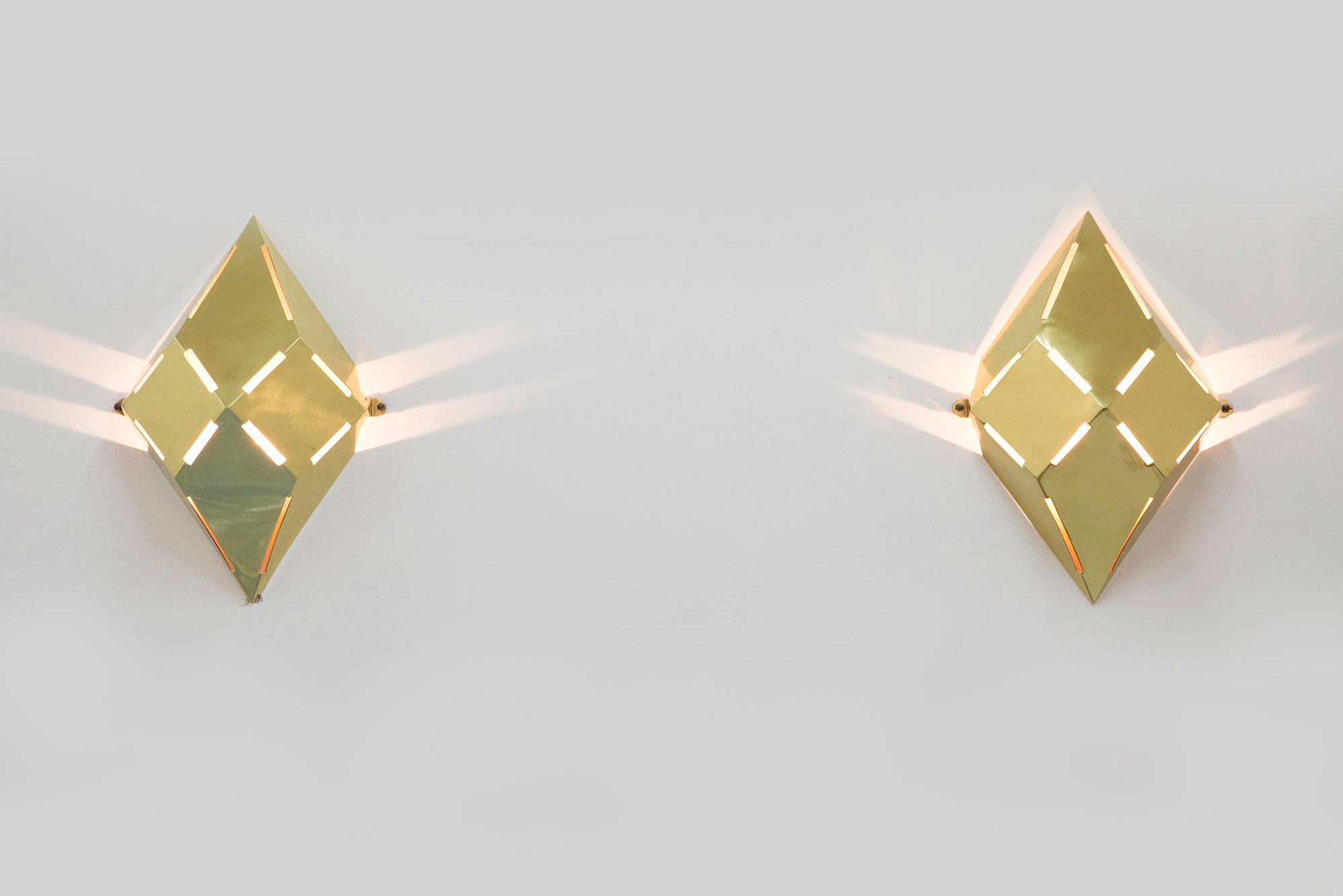 Gabriella Crespi  |                              Pyramid wall lamps - pair