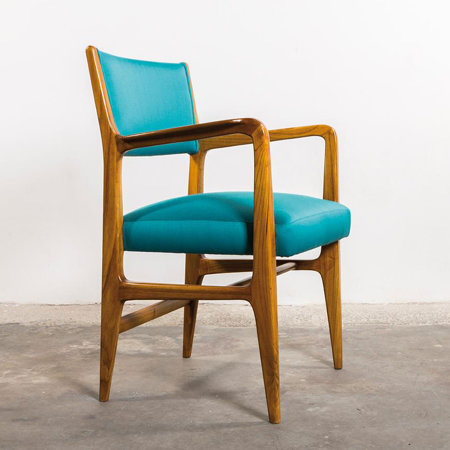 Gio Ponti  |                                  Set of 6 chairs model 110