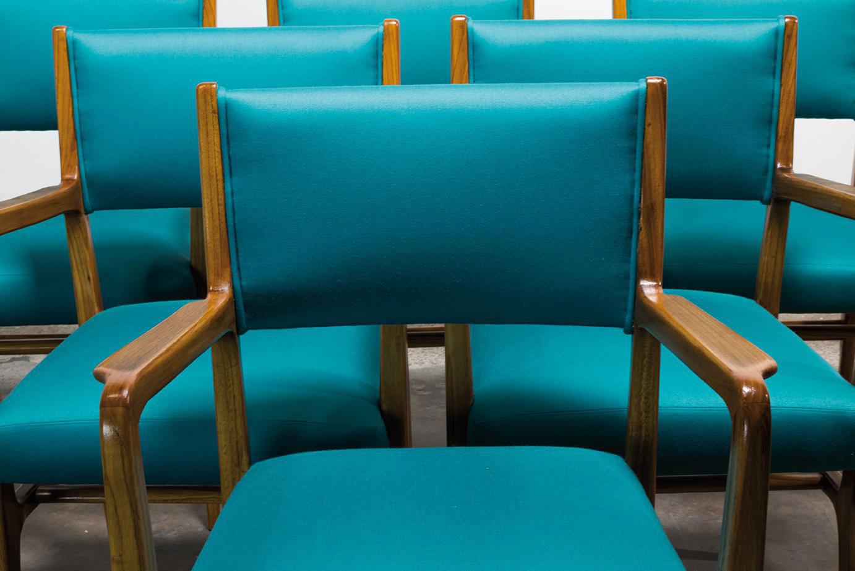 Gio Ponti  |                              Set of 6 chairs model 110