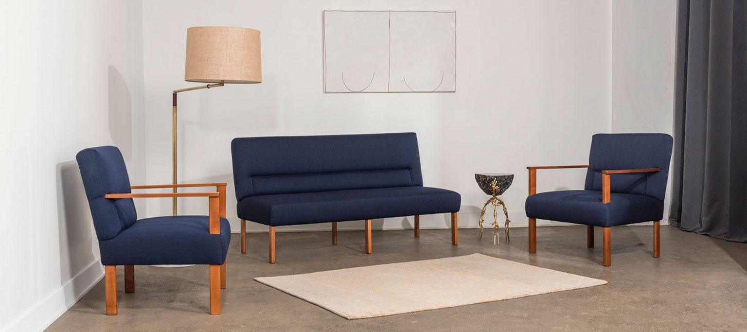 Mario Asnago and Claudio Vender love seat and armchairs and side table by Campana brothers at design and furniture gallery Casati Gallery - home homepage photo