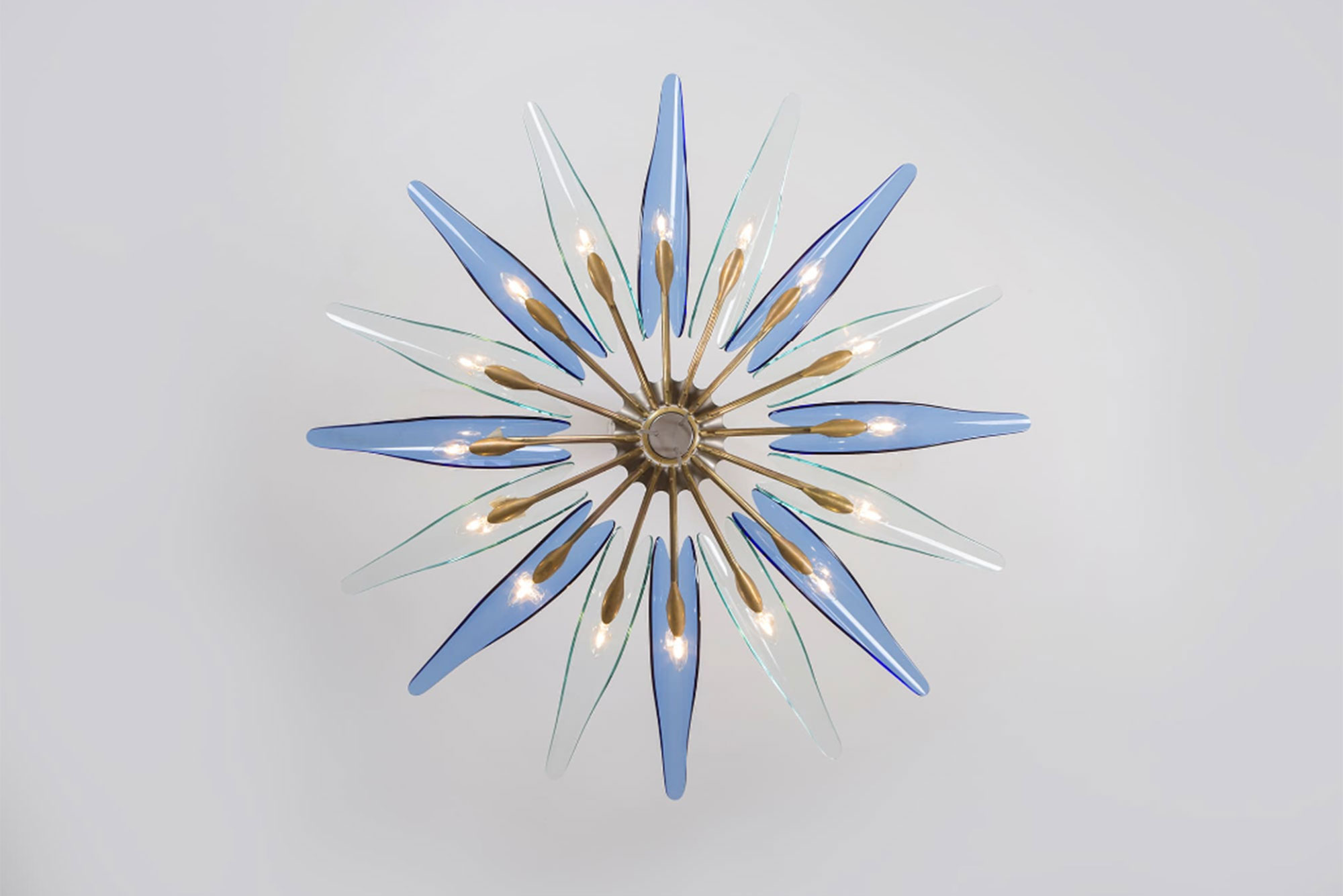Max Ingrand |                              Blue Dalia chandelier