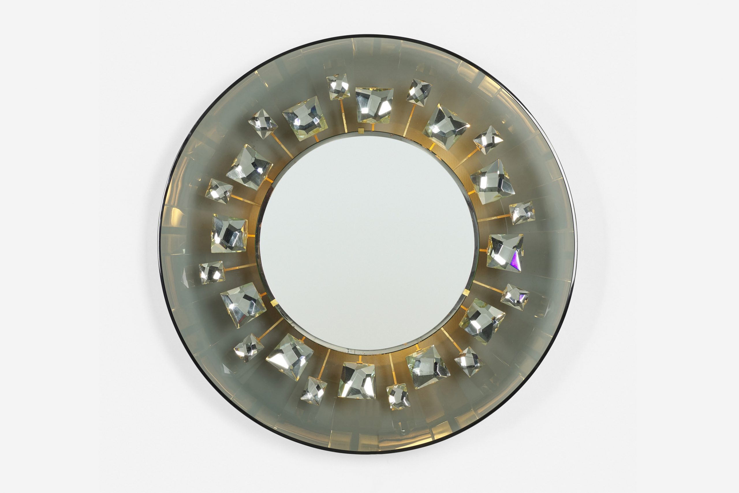 Max Ingrand  |                              Rare illuminated mirror, model 2044
