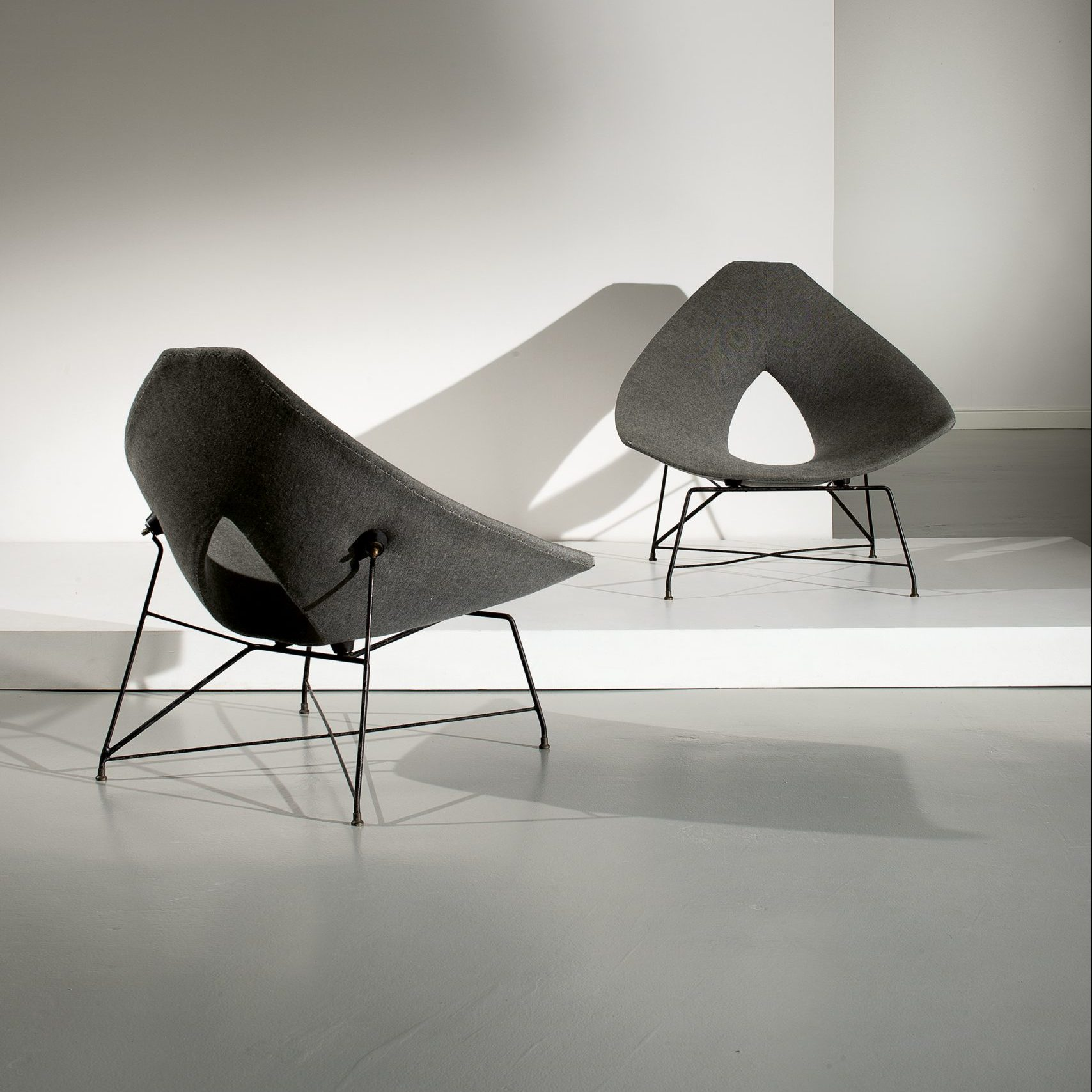 Augusto Bozzi |                                  Pair of chairs model Etere