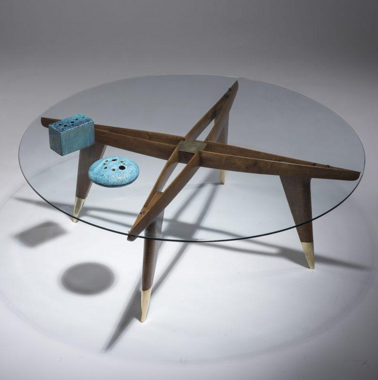 Gio Ponti walnut coffee table no. 1101