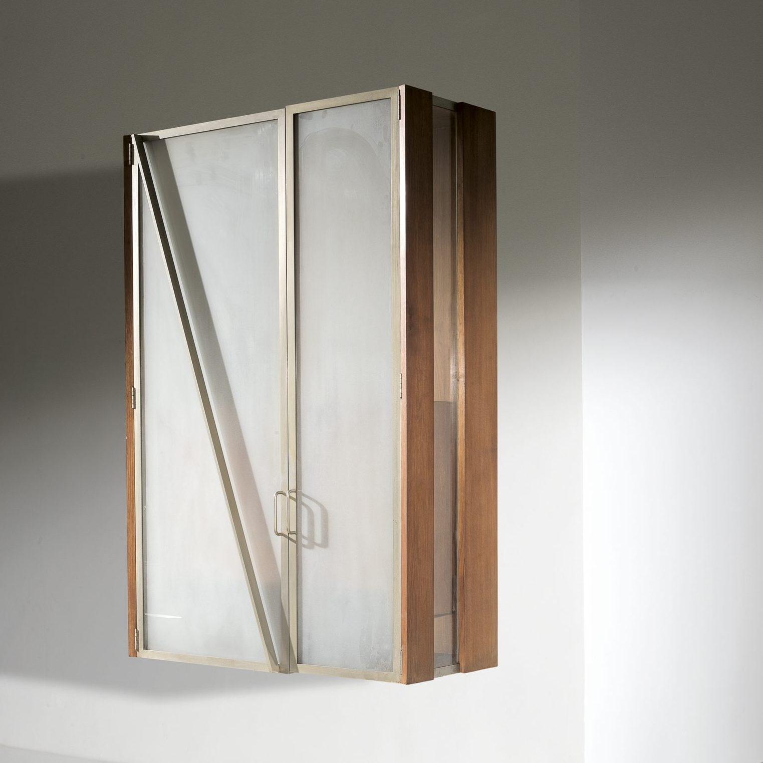 Giovanni Offredi |                                  Wall cabinet w/glass doors for Casa C.