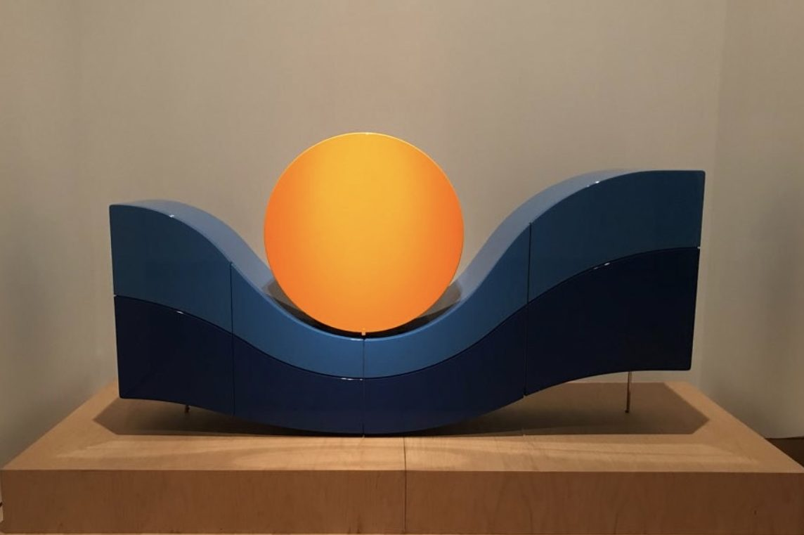 Sunset Cabinet designed by Pierre Cardin in 2018 at the Brooklyn Museum of Art in 2020