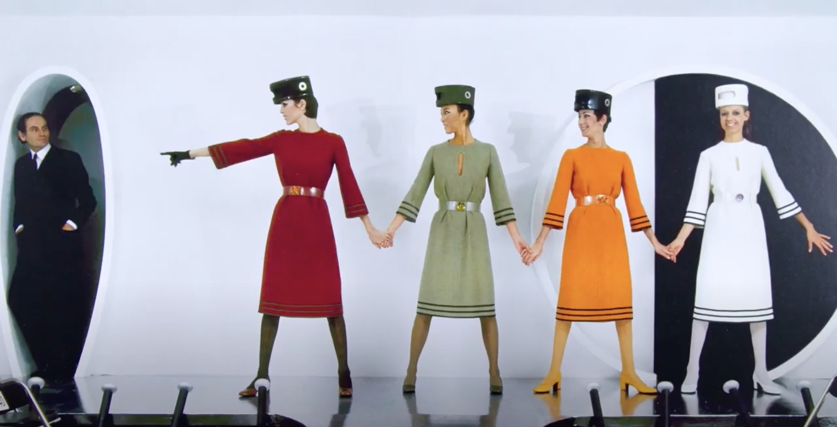Pierre Cardin and models scene from the documentary House of Cardin