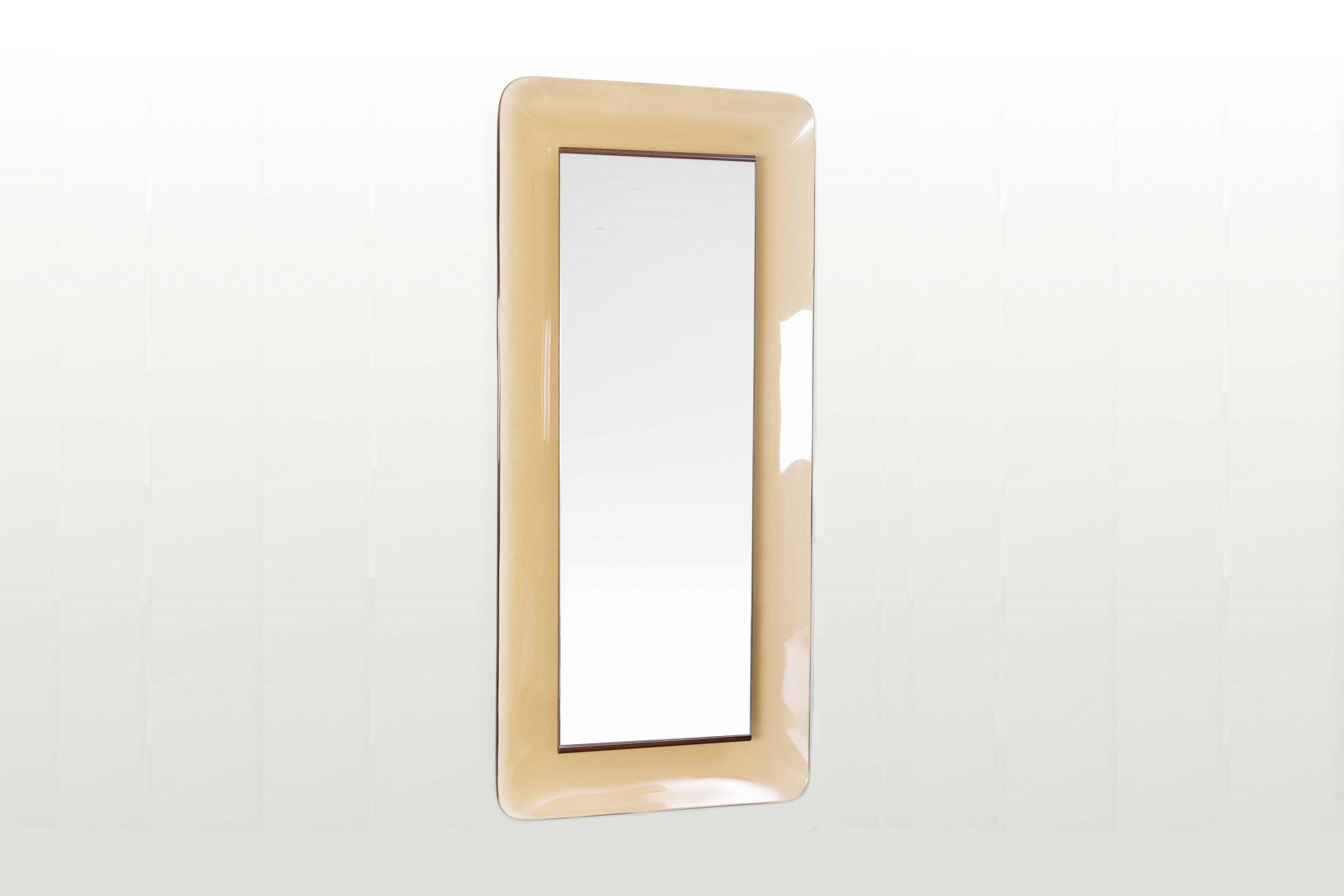 Beige mirror model 2273 by Fontana Arte