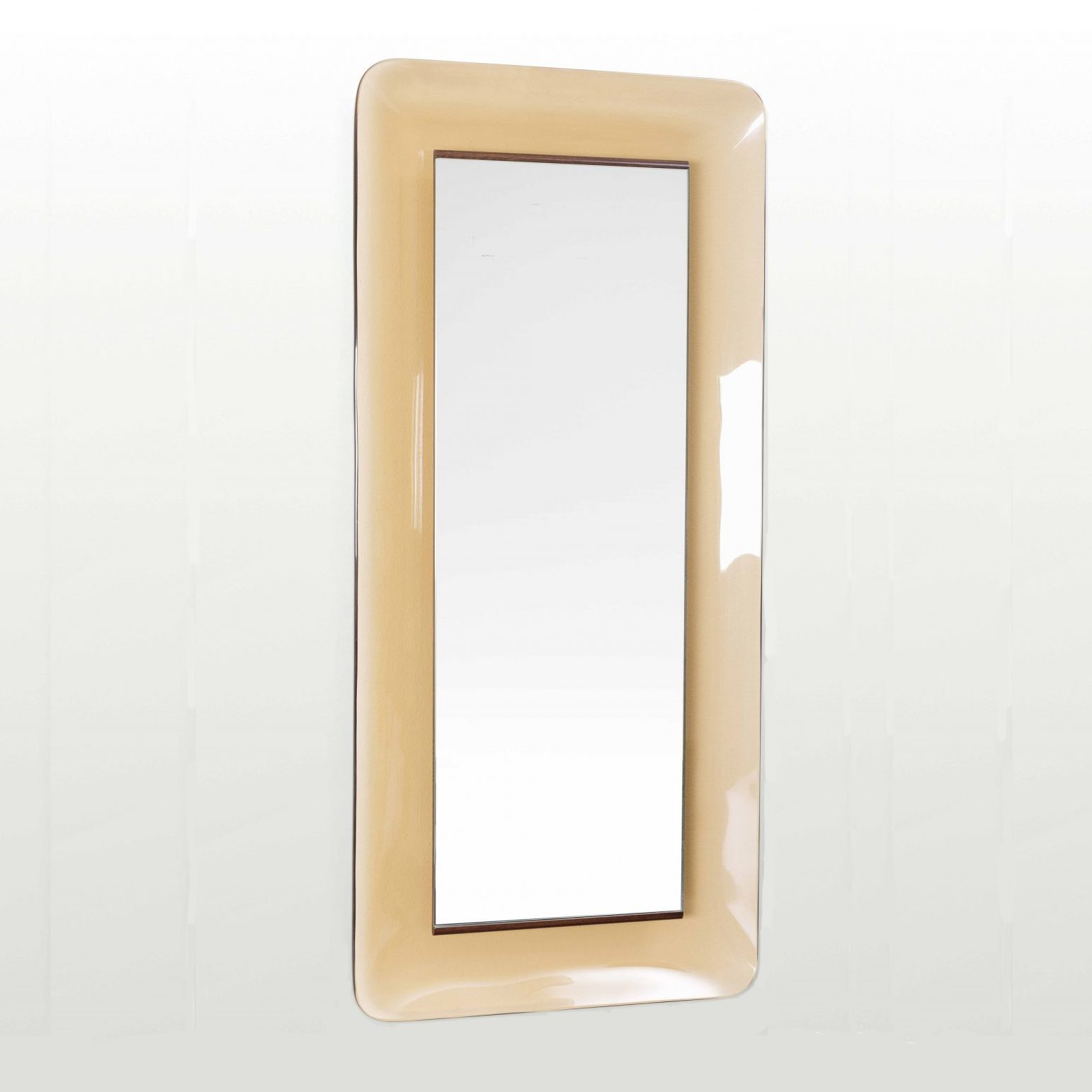 Max Ingrand |                                  Beige mirror model 2273 by Fontana Arte