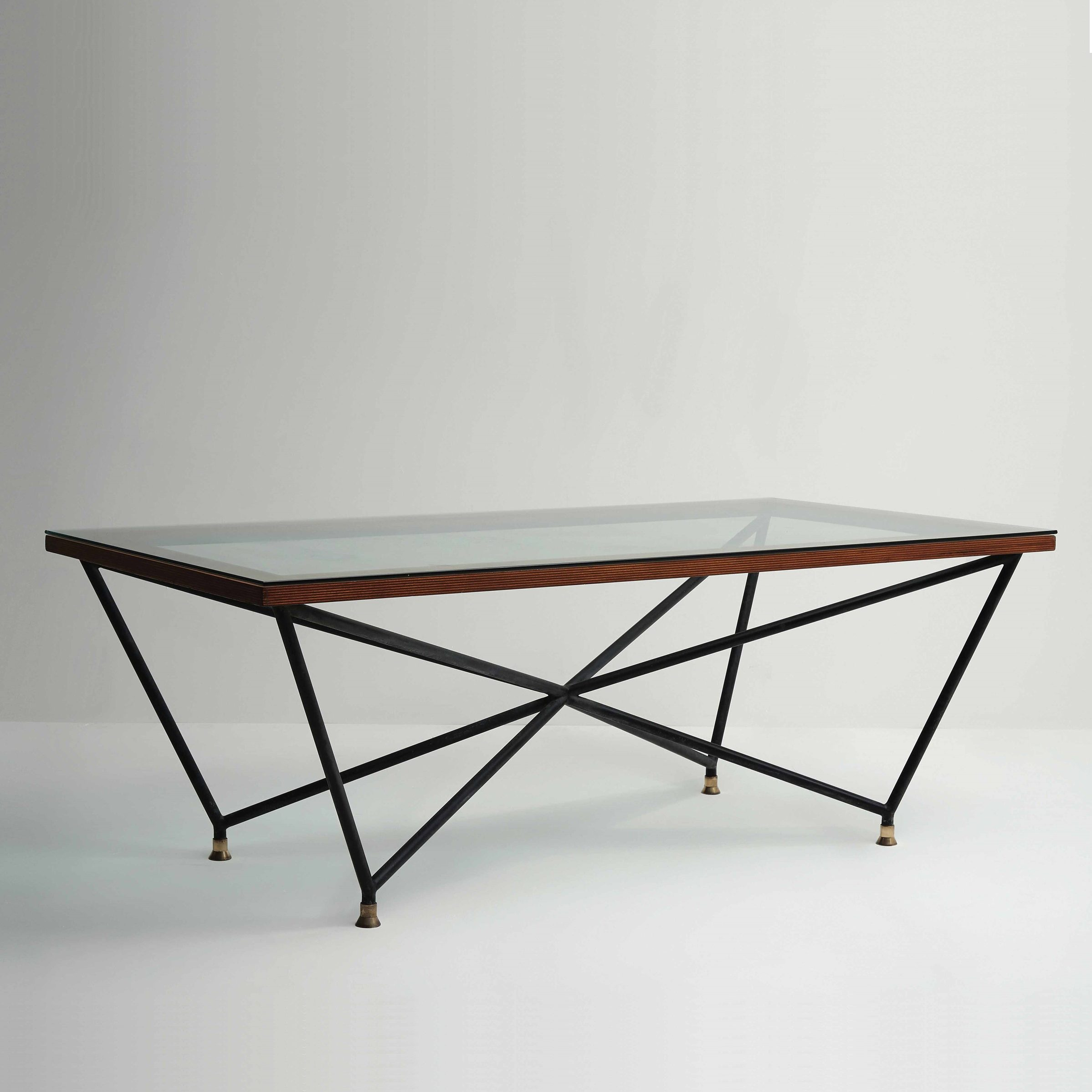 Giovanni Ferrabini |                                  Iron and glass dining table