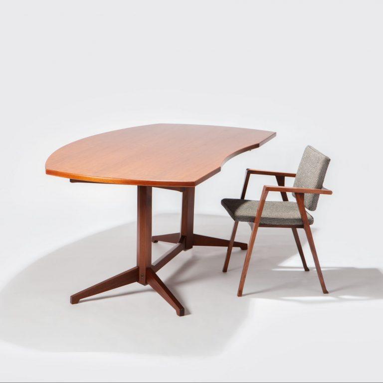 Franco Albini and Franca Helg Large desk at Casati Gallery square photograph