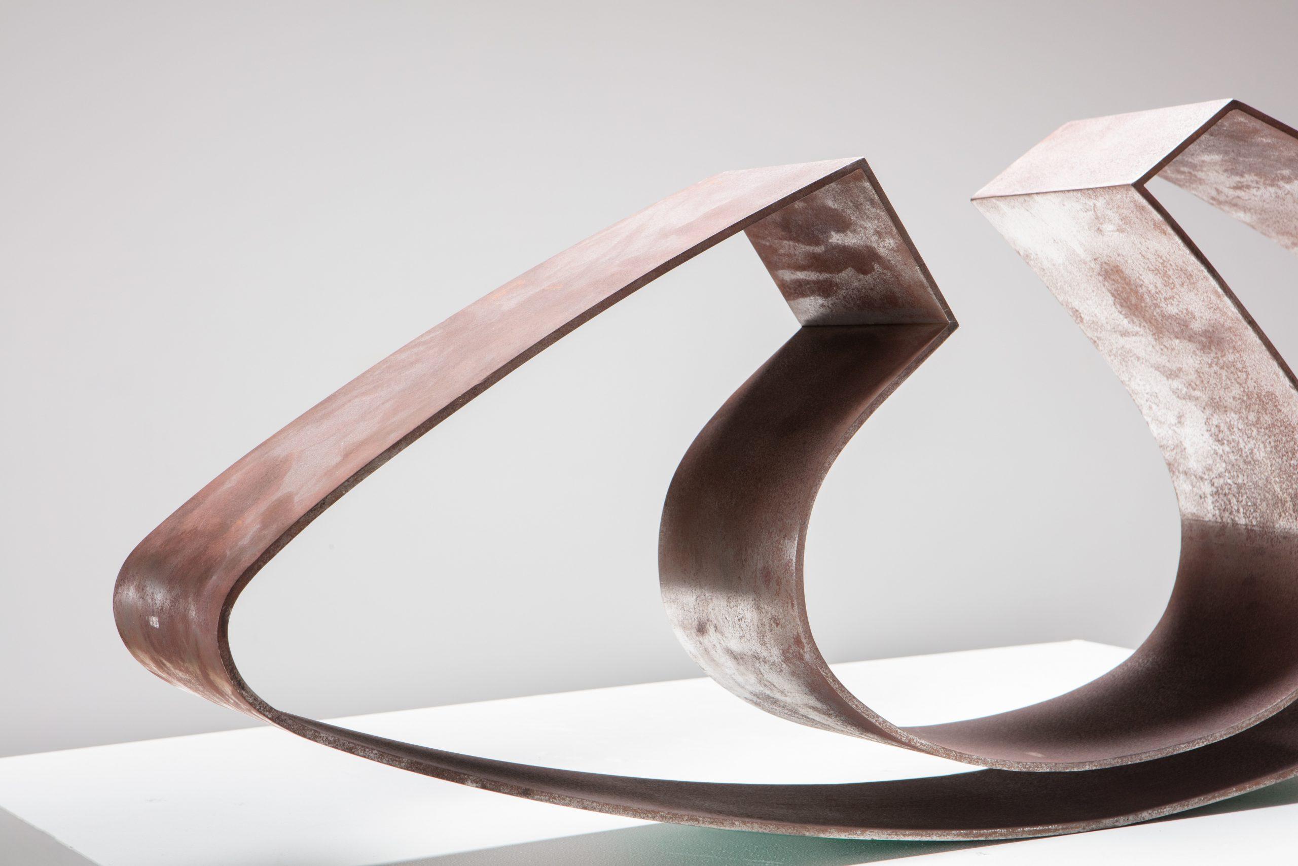 Angelo Mangiarotti |                              Steel sculpture Vuoto in Equilibrio